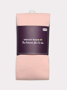Collants fantaisie rose fille SIRUGETTE B / 19H4PF61COL413