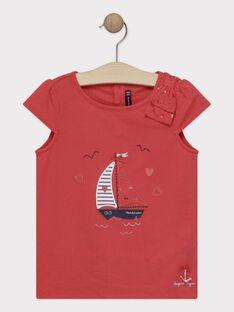 T-Shirt rouge avec voilier fille  TUIZETTE / 20E2PFW2TMCF503