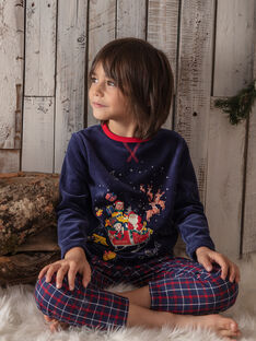 Pyjama bleu marine petit enfant garçon  VEDILAGE / 20H5PGK2PYJ717