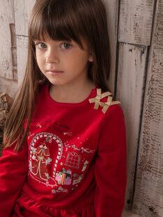 Pyjama rouge petit enfant fille  VOJEBETTE / 20H5PFK2PYJF528