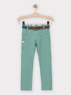 Pantalon vert avec ceinture doublé jersey garçon TACCIAGE / 20E3PGB2PANG624
