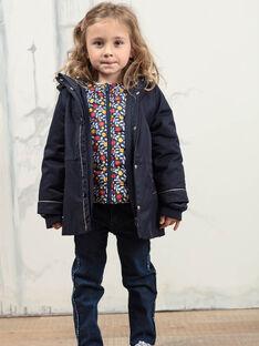 Imperméable 3-en-1 bleu marine enfant fille BLOPRETTE / 21H2PFC2IMP070