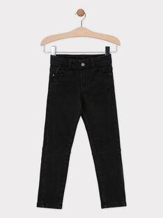 Jeans en denim noir doublé jersey garçon SIOGAGE / 19H3PGO1JEAK003