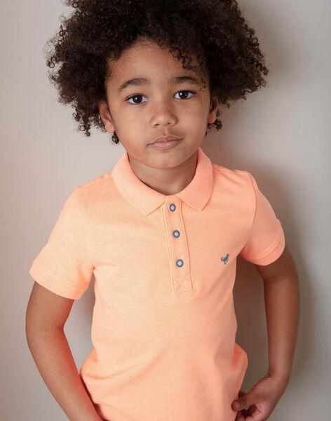 Polo uni orange fluo enfant garçon ZYPOLAGE6 / 21E3PGW1POLE411