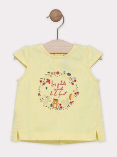 Light yellow T-shirt SAAVRIL / 19H1BF21TMCB115