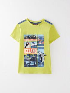 Tee Shirt Manches Courtes Vert VEISAGEEX / 20H3PGL1TMC605