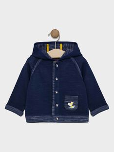 Baby boys' navy jogging top SAFLAVIO / 19H1BG41JGHC214
