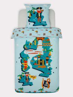 Parure de lit bleu turquoise motif pirate  TIPARURPIR / 20EZEN74PLCC218