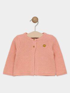 Cardigan rose bébé fille SAGIA / 19H1BF62CAR413