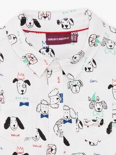 Chemise écrue et noire imprimé chien bébé garçon BABLAISE / 21H1BG11CHM001