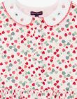Robe chasuble rose imprimé fraise  ZORABETTE / 21E2PFJ2CHS301