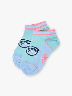 Socquettes fond turquoise animation plage enfant garçon ZOSOCAGE / 21E4PGU1SOB202