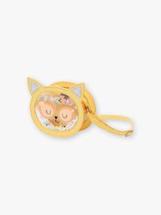 Sac bandoulière jaune animation tête de chat ZITRONETTE / 21E4PFO1BESB104