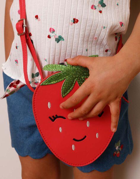 Sac besace fraise  ZOFRAISETTE / 21E4PFJ1BESD323