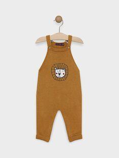 Salopette longue bébé garçon couleur camel  SAKAEL / 19H1BG61SAL804