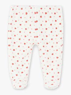Pyjama velours rouge et écru ZECLARA / 21E5BF11PYJ050