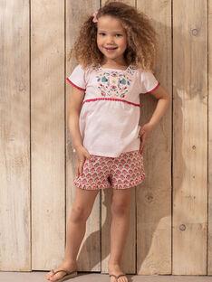 Short motif floral enfant fille TIUMETTE / 20E2PFQ1SHOD317