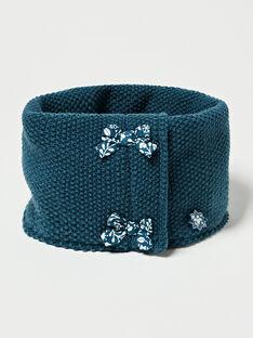 Snood en tricot bleu canard  VEPRAETTE / 20H4PFE1SNOC235