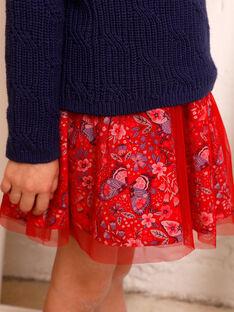 Jupe rouge imprimé papillon ZOJUPETTE / 21E2PFB1JUP050