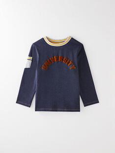 Tee-shirt manches longues bleu chiné VAPOUAGE / 20H3PG62TML222