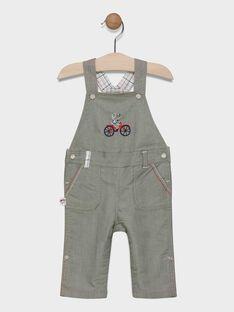 Baby boys' khaki short dungarees. SADEAN / 19H1BG31SAC628