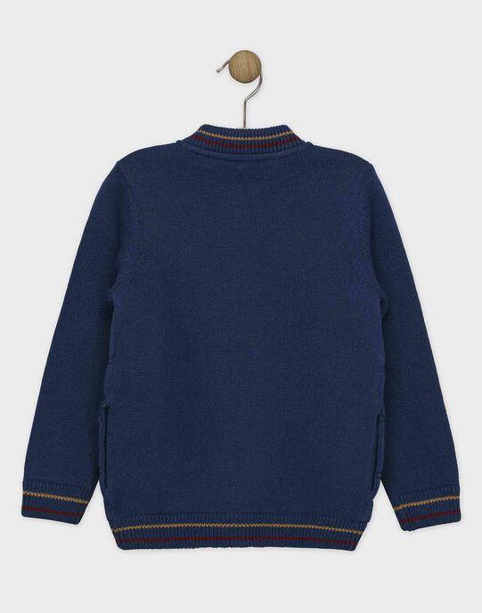 Gilet teddy bleu en molleton garçon SECAPAGE / 19H3PGI1GIL717