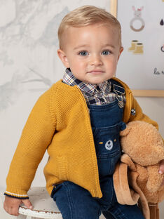 Gilet jaune moutarde bébé garçon BAFAUST / 21H1BG51GILB114