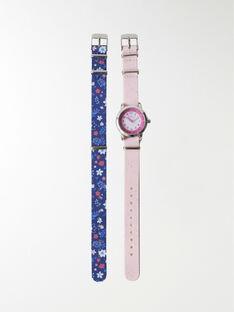 Montre rose avec 2 bracelets interchangeables EMMA / 20J7GF11MON030