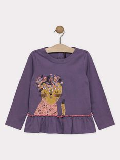 Purple T-shirt SOLOUVETTE / 19H2PF61TML712