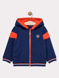 Sweat shirt à capuche bleu marine garçon  TUVESAGE 1 / 20E3PG94JGH622