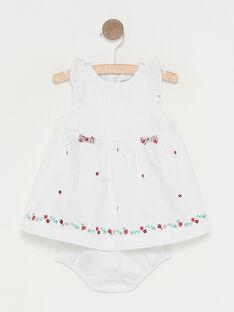 Robe écrue bébé fille  TUVIOLON / 20E0CFR1ROB000