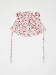 Chapeau imprimé fleuri bébé fille  TUVOLEIL / 20E0AFR1CHA304
