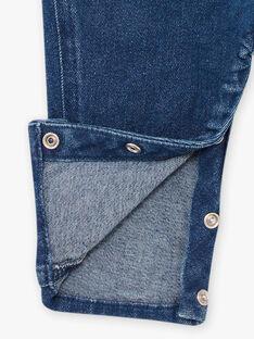 Salopette en jean motif ourson bébé garçon BAFLOYD / 21H1BG51SALP269