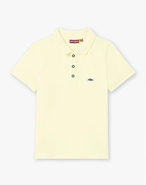 Polo uni jaune fluo enfant garçon ZYPOLAGE5 / 21E3PGW4POLB113