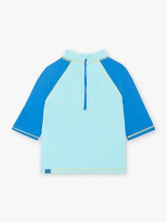 Tee-shirt de bain anti UV bleu crabe surfeur enfant garçon ZYSURFAGE / 21E4PGR1TUV202