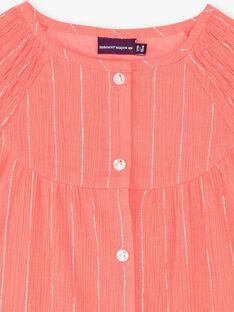 Blouse corail rayures colori argent ZEPODETTE / 21E2PFI1CHE404