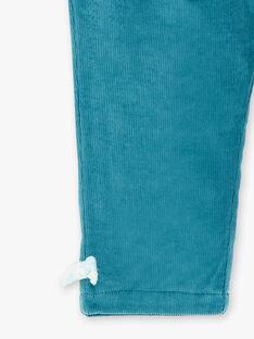 Pantalon bleu canard en velours côtelé  VAOSTINE / 20H1BFW2PAN714
