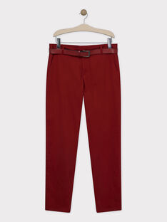 Burgundy pants SIREGULAGEM / 19H3GHU1PAN719