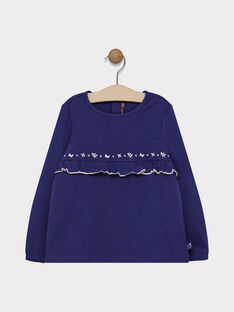 Tee-shirt marine fille SABOBETTE 4 / 19H2PF92TML070
