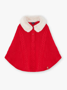 Poncho en tricot rouge VUPAULETTE / 20H2PFM1PONF515