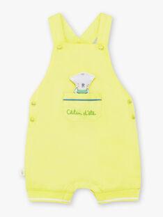 Salopette courte vert pâle bébé garçon TAWAYATT / 20E1BGX1SACG628
