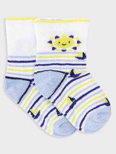 Chaussettes rayées bébé garçon  TANOE / 20E4BGO1SOQ001