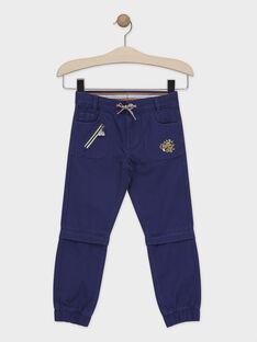 Pantalon bleu marine avec bas de jambe amovible garçon  TELIMAGE / 20E3PGG1PAN070