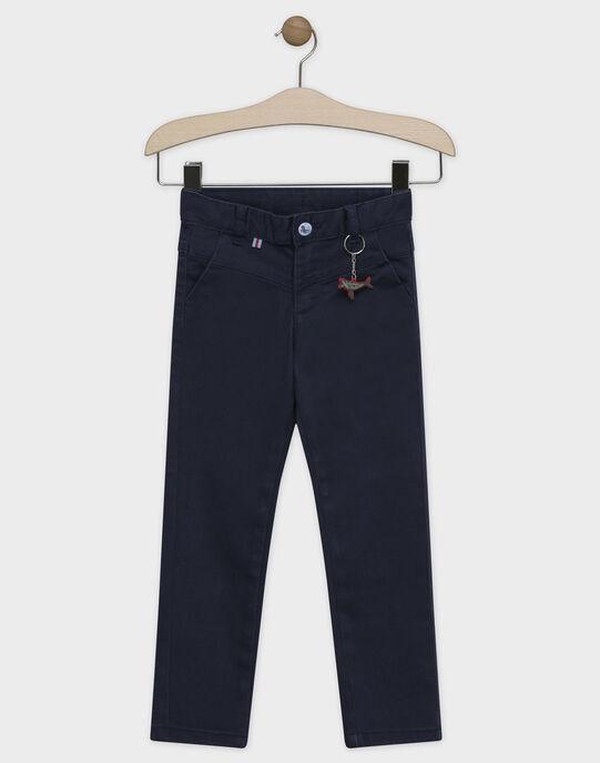 Pantalon bleu nuit avec porte-clés garçon SEMINAGE / 19H3PGE2PANC244