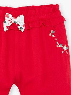Pantalon rouge ZAAMBRE / 21E1BFJ1PANF505