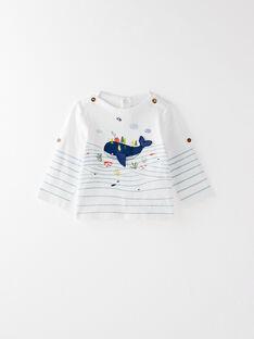 Tee-shirt manches longues blanc  VAHAMZA / 20H1BGL1TML001