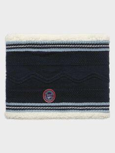 Snood bleu grisé doublure sherpa garçon SELUDAGE / 19H4PGE1SNOC244