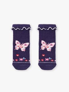 Chaussettes bleu marine papillon  ZAFIDELE / 21E4BFB1SOQ216