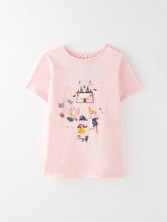 Tee Shirt Manches Courtes Rose VIKAOETTEX / 20H2PF61TMC301