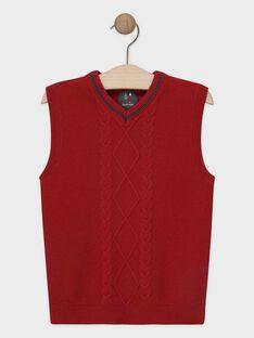 Burgundy Pullover (sleeveless) SIJACAGE / 19H3PGP1PSM719